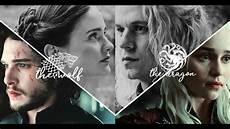Jon Daenerys And Rhaegar Lyanna The And The Wolf