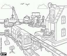 lego station coloring page printable