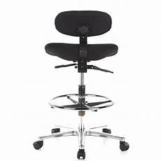 sgabello da lavoro sgabello da lavoro con ruote work mv ergonomico in nero