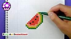 Bilder Zum Nachmalen Pixel Wassermelone Zeichnen Pixel Handgemacht