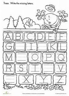 9 images of alphabet missing letter worksheet and tons