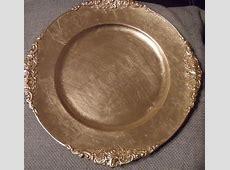 Gold Plastic Plates Bulk. 102 Pieces Gold Plastic Plates