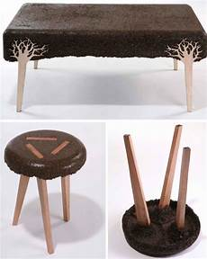 Cool Stools Wood Sawdust Upcycled Into Funky Furniture