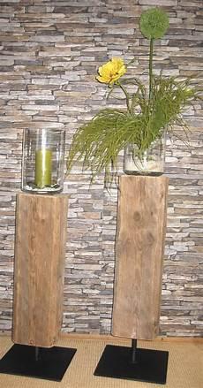 Alte Holzbalken Behandeln - eingelassene windlichter in alte holzbalken balken