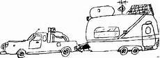 auto mit wohnwagen 2 ausmalbild malvorlage auto