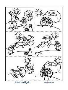 Ausmalbild Hase Und Igel Hase Und Igel Bildergeschichte Geschichte Igel