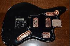 fender jaguar black hh relic shielded vintage custom