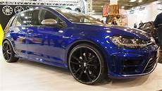 golf 7r tuning volkswagen golf 7r blue with tuning rims mam