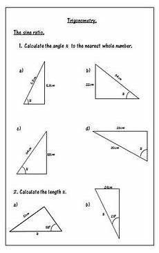 geometry trigonometry worksheets 910 trigonometry worksheets soh cah toa by 123 math tpt