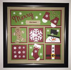 handmade 8 quot x8 quot christmas framed collage decor merry christmas framed picture by