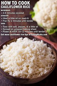 cauliflower rice recipe with stove oven microwave