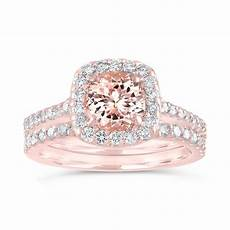 morganite engagement ring rose gold pink morganite