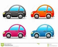 Vier Lustige Kleine Autos Stockbild Bild 16049911