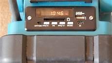 makita radio mit usb mp3 player modul