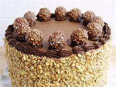 torta con ferrero rocher sbriciolati receta de tarta ferrero rocher unareceta com