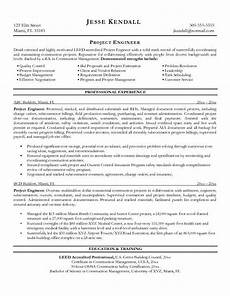 free construction project engineer resume exle doc