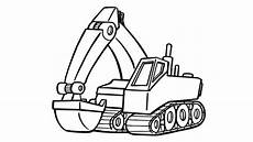 Malvorlagen Kinder Bagger How To Draw Excavator Truck Coloring Pages Truck Colors