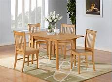 5pc norfolk rectangular dinette kitchen dining table with 4 chairs in oak ebay