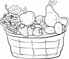 Ausmalbilder Obst Grundschule Kostenlose Malvorlage Obst Und Gem 252 Se Obstkorb Mit