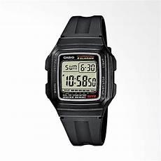 jual casio digital rubber jam tangan pria black f 201wa 1aef online harga kualitas