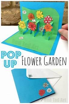 Pop Up Karte Basteln - 3d flower card diy pop up cards for ted s