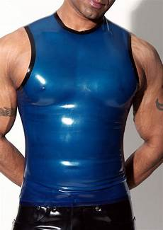 mens rubber sleeveless t shirt ebay