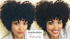 my curly hair routine wash and go youtube