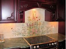 Kitchen Tile Murals Tile Backsplashes Kitchen Bernadette S Garden Quot Kitchen