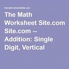 the math worksheet site com addition single digit vertical math worksheet printable math
