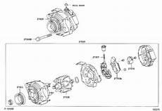 2007 toyota yaris alternator battery engine replaced 2706021151 genuine toyota part