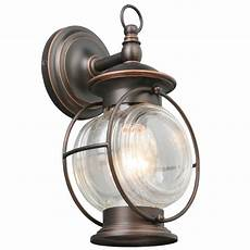 portfolio caliburn 12 25 in h rubbed bronze medium base e 26 outdoor wall light at lowes com