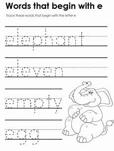 letter e worksheets kidzone 23086 standard block printing tracers beginning vowel sounds