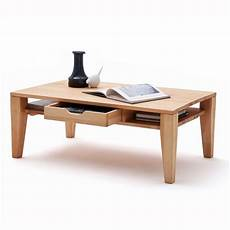 Beech Coffee Table With Drawers