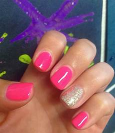 summer shellac manicure in 2019 pink shellac nails