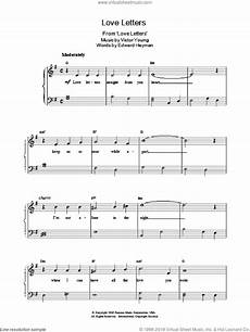 heyman love letters sheet music for piano solo v2