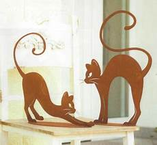 Malvorlage Katze Mit Buckel Katze Mit Buckel Elegantes K 228 Tzchen Rost Edelrost Metall
