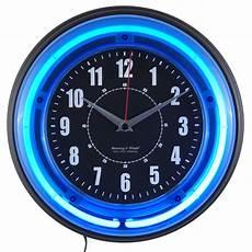 unique wall clocks decorative modern fun wall clocks 11 blue light neon clock 792684408141 ebay