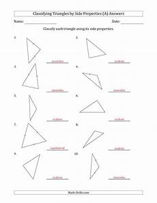 geometry triangle worksheets pdf 912 classifying triangles by side properties marks included on question page all