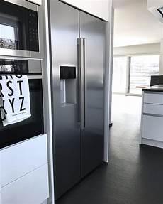 amerikanischer kühlschrank in küche side by side k 252 hlschrank in schr 228 nke integrieren side by
