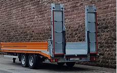 lkw anh 228 nger tieflader 10500kg mieten wall baumaschinen