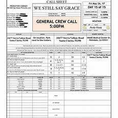 how to make a call sheet don t forget to do this