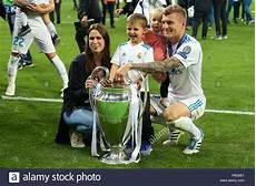 Toni Kroos Amelie Kroos - kyiv ukraine may 26 2018 toni kroos with his