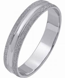 buy revere 9ct white gold frosted edge ring 4mm n