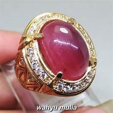 cincin batu akik merah ruby daging asli kode 1201 wahyu mulia