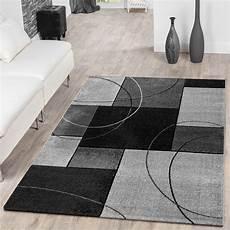 teppich kurzflor grau designer teppich modern grau kariert kurzflor teppichmax