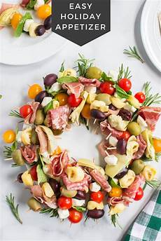 antipasto wreath holiday appetizer family fresh meals