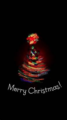 merry christmas light painting tree android wallpaper free download