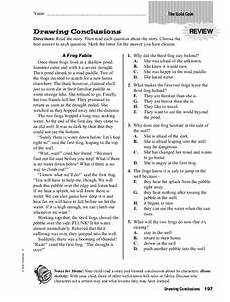 drawing conclusions worksheet for 3rd 6th grade lesson planet