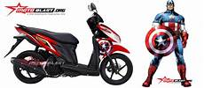 Striping Vario 125 Modif by Modif Striping Honda Vario 125 Captain America Motoblast