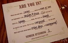 our diy mad libs style wedding rsvp invitiation card a